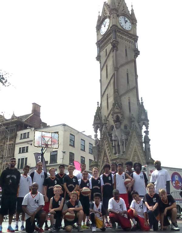 Leicester Warriors at the Clock Tower