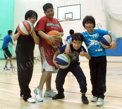 Leicester Warriors Basketball campers