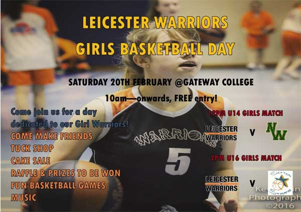 Leicester Warriors Girls Basketball Day