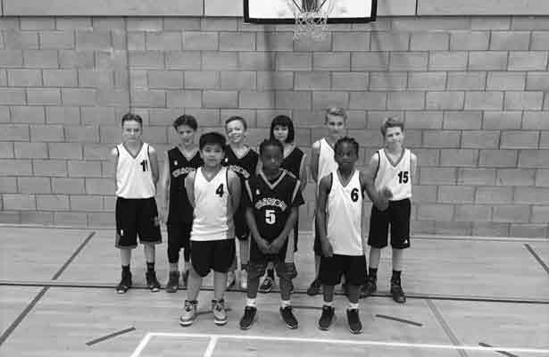 u11s mixed basketball team