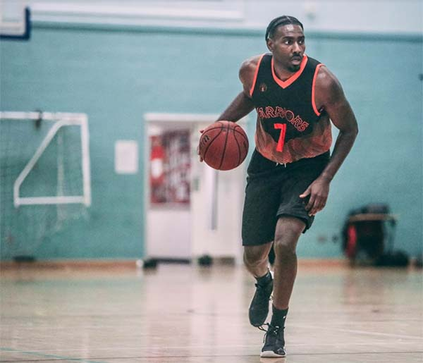 Martyn Gayle Dribbling Basketball Leicester Warriors