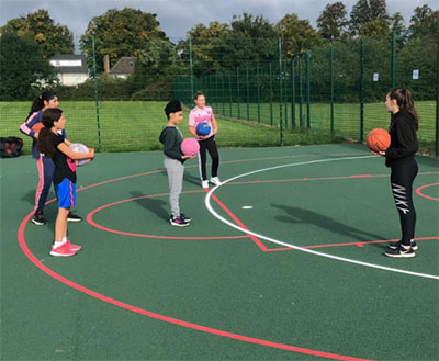 coach charlotte leicester warriors training basketball england