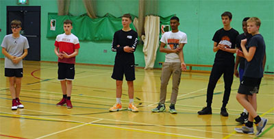 karl brown 6 leicester warriors youth training highfield community centre basketball england
