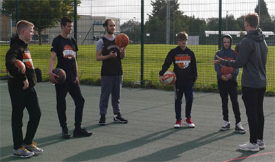 leicester warriors youth training session basketball england